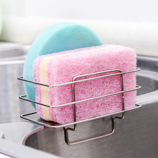 ✭米菈生活館✭【F53】不鏽鋼水槽瀝乾架 菜瓜布 刷子 海綿 衛生 乾淨 廚房 鏤空 通風 瀝水 置物