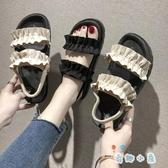 涼鞋平底女鞋夏季休閒時尚百搭學生潮流【奇趣小屋】