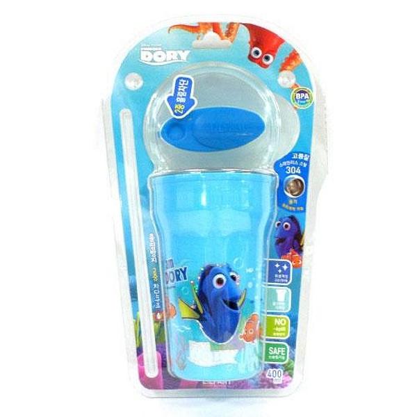 【震撼精品百貨】海底總動員Finding Nemo~ 海底總動員 不鏽鋼附蓋吸管杯(400ML)