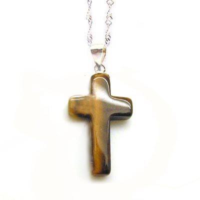 虎眼十字架純銀項鍊