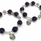『晶鑽水晶』天然特級紫水晶 純銀手鍊 約14mm 圓珠 加強記憶力 開發智慧 情人節 生日 附禮盒