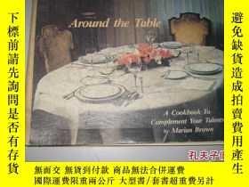 二手書博民逛書店英文原版AROUND罕見THE TABLE(16 開 精裝)91