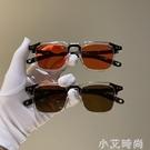 復古韓版新款太陽小方框米釘墨鏡女潮個性眼鏡男圓臉歐美網紅同款 小艾新品
