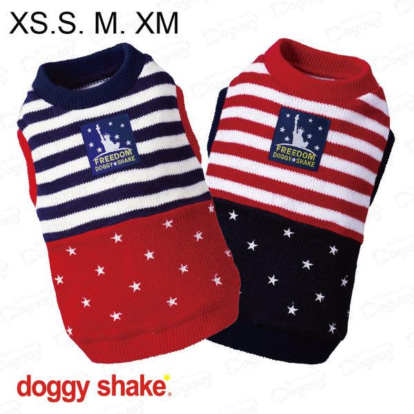 日本《Doggy Shake》自由美國針織背心 XS/S/M/XM 狗狗發熱衣 狗衣服 冬衣