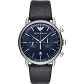 Emporio Armani Dress 亞曼尼計時手錶-藍/42mm AR11105