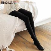 3雙 中厚絲襪連褲襪防勾絲薄款黑肉色天鵝絨顯瘦腿打底襪子女〖米娜小鋪〗