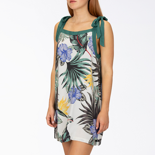 HURLEY|女 W PRINTED WOVEN TIE DRESS SAIL 洋裝