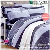 御芙專櫃『摩登巴黎』5*6.2尺*╮☆100%天絲棉40支/七件套床罩組/雙人