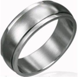 轉運戒亞光素面西德鋼戒指《 美規6~11號》