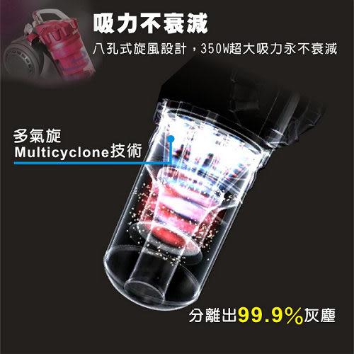 SAMPO聲寶 免紙袋吸力不衰減吸塵器 ECS-W1135PL(桃紅色)