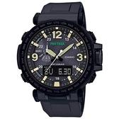 【CASIO】 PRO TREK 大型螢幕抗低溫電子羅盤登山錶-黑(PRG-600Y-1)