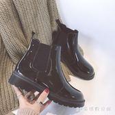 中大尺碼平底短靴 馬丁靴短靴女秋季厚底短筒單靴平底切爾西靴機車靴子潮LB816【3C環球數位館】