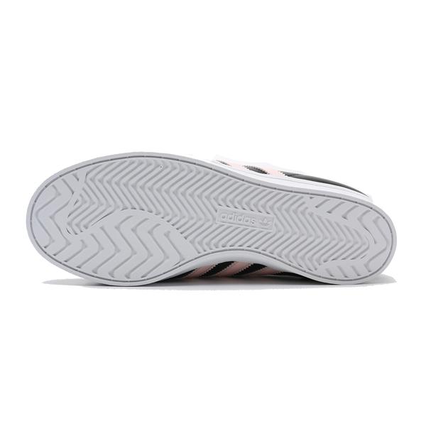 ADIDAS 休閒鞋 ADIDAS COAST STAR W 黑 粉 皮革 板鞋 女 (布魯克林) EE6205
