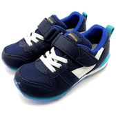 《7+1童鞋》日本月星   MOONSTAR 魔鬼氈  透氣  機能  運動鞋  C438  寶藍色