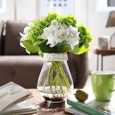 仿真花 歐式現代繡球花束套裝客廳假花擺件花藝餐桌擺設裝飾塑料花 卡菲婭