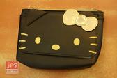 Hello Kitty 凱蒂貓 造型小側包 觸控包 手機包 收納包 黑 215532