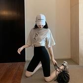 夏防走光女外穿高腰瑜伽冰絲打底芭比五分褲騎行緊身運動健身短褲 童趣屋 免運