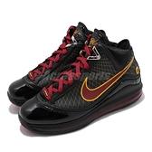 Nike 籃球鞋 LeBron VII QS 7 Fairfax 黑 紅 氣墊 男鞋 LBJ 7 運動鞋【ACS】 CU5646-001