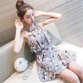 游泳衣女士分體保守成年性感韓國學生裙遮肚顯瘦平角泳裝  ciyo黛雅