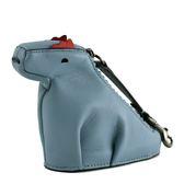 美國正品 COACH 專櫃款 小恐龍拉鍊掛飾零錢包-水藍色【現貨】
