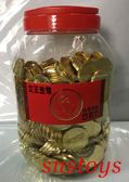 sns 古早味 糖果 巧克力 女王金幣巧克力 代可可脂巧克力 金幣 美金巧克力 3公斤 約450個