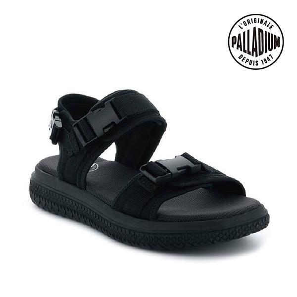 【南紡購物中心】【PALLADIUM】CRUSHION SDNL 輪胎底涼鞋 / 極黑 男女鞋