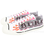 BURBERRY 塗鴉印花塗層棉質運動鞋(女鞋/白色) 1820075-20