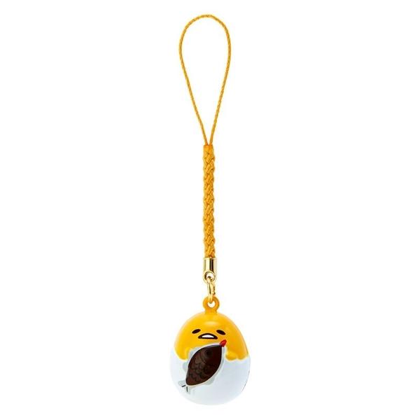 小禮堂 蛋黃哥 造型鈴鐺吊飾 鈴鐺鑰匙圈 金屬吊飾 (黃白 大臉) 4550337-76031