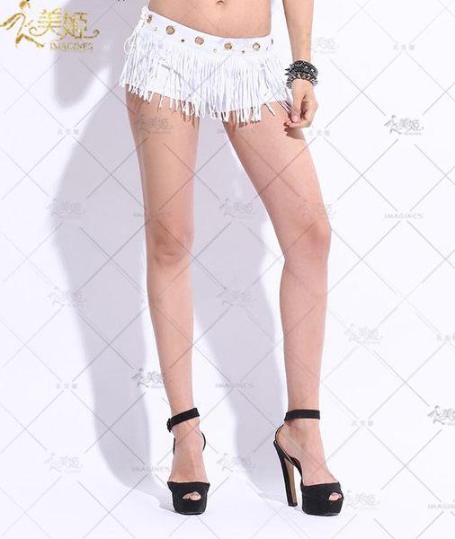 衣美姬♥火辣 流蘇性感短褲 歐美夜店派對辣妹 熱褲 勁歌熱舞顯瘦款 牛仔短褲【現貨】