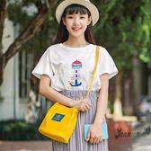 水桶包 CHIC帆布包斜挎女單肩韓國2018新款韓版學生原宿水桶包袋 全館滿額85折
