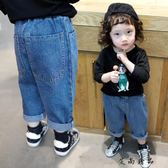 韓版直筒闊腿寶寶褲子