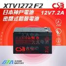 【久大電池】 神戶電池 CSB電池 XTV1272 F2 12V7.2Ah 通用NP7-12 UPS不斷電系統專用電池