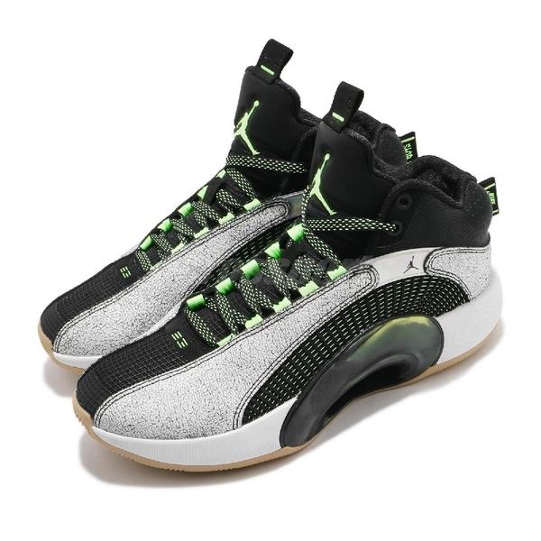 Nike 籃球鞋 Air Jordan XXXV SP 35 黑 白 綠 男鞋 Bayou Boys AJ35 明星 【ACS】 DA2377-100