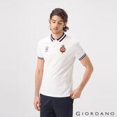 【GIORDANO】男裝UNION JACK系列短袖POLO衫-22 標誌白