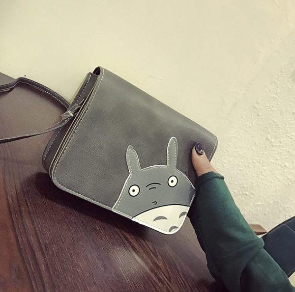 預購-可愛龍貓貼皮肩背斜背包