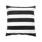 HOLA 蘇菲拼接抱枕45x45cm黑白條
