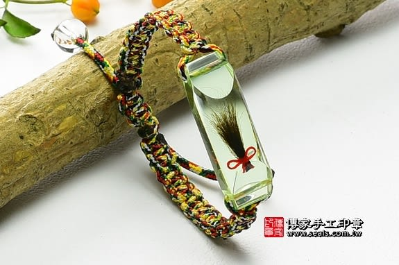 《頂級胎毛手鍊(綠色)》—臍帶印章,臍帶印章,臍帶印章,臍帶印章,臍帶印章,臍帶章