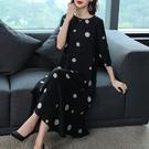 重磅真絲洋裝/連衣裙長款2021新款大牌高檔時尚波點杭州絲綢桑蠶絲女夏 快速出貨