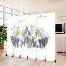 屏風隔斷牆北歐客廳折疊行動簡約現代辦公室實木定制臥室酒店折屏  【快速出貨】