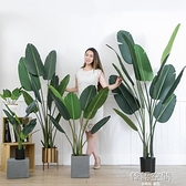 現貨 天堂鳥北歐仿真植物旅人蕉假綠植盆栽大型客廳擺設室內裝飾龜背葉