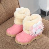 冬季日韓女童雪地靴平底低筒短靴童靴公主棉靴兒童靴子女 森雅誠品