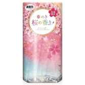 〔小禮堂〕日本雞仔牌 日製浴廁芳香劑《粉》400ml.櫻花香.除臭劑 4901070-12886