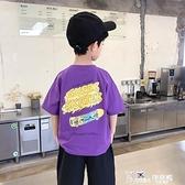 兒童短袖T恤韓版童裝男童純棉印花上衣2021夏裝中大童半袖體恤潮