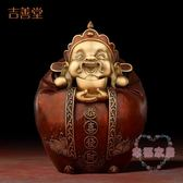 (聖誕交換禮物)《財星高照》文財神爺佛像擺件 創意純銅招財工藝禮品