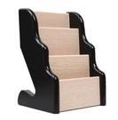 名片盒 木質多層收納三層名片座辦公收納盒名片盒桌面名片架座請賜名片架【快速出貨八折下殺】