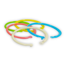 ABEL 力大牌 09708 1/2吋塑膠卡片圈環 混色15入 內徑約12mm