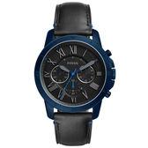 FOSSIL 古典伯爵三環計時腕錶-FS5342