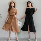 MIUSTAR 飛鼠袖質感排釦連身縮腰洋裝(共3色)【NH0690RX】預購