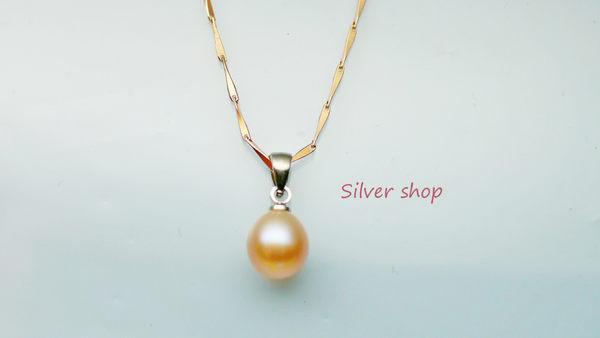 ╭☆ Silver shop ☆╯淡水珍珠 銀飾材質 單墜 不含鍊 [ pp 001 ]