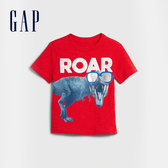 Gap 男幼童 創意風格圓領短袖T恤 577615-正紅色